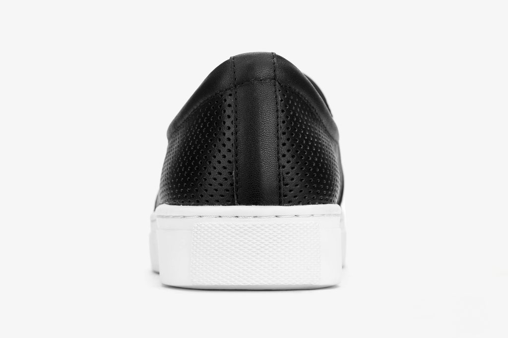 Leather Slip-on Sneakers - Black AT22554