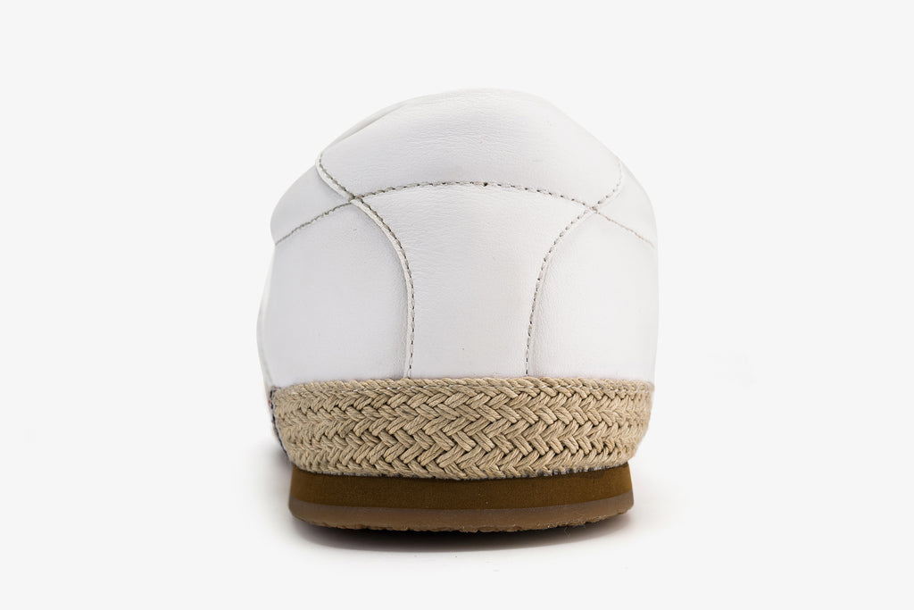 Men's Leather Espadrilles - White