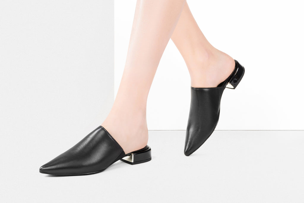 Leather Mules - Black