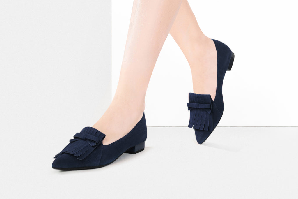 Loafers with Tassel Detail - Navy AT17213