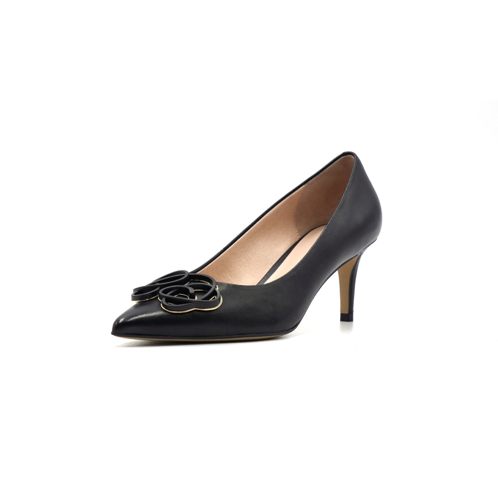Leather Buckle Pumps - Black 1T69110BKK