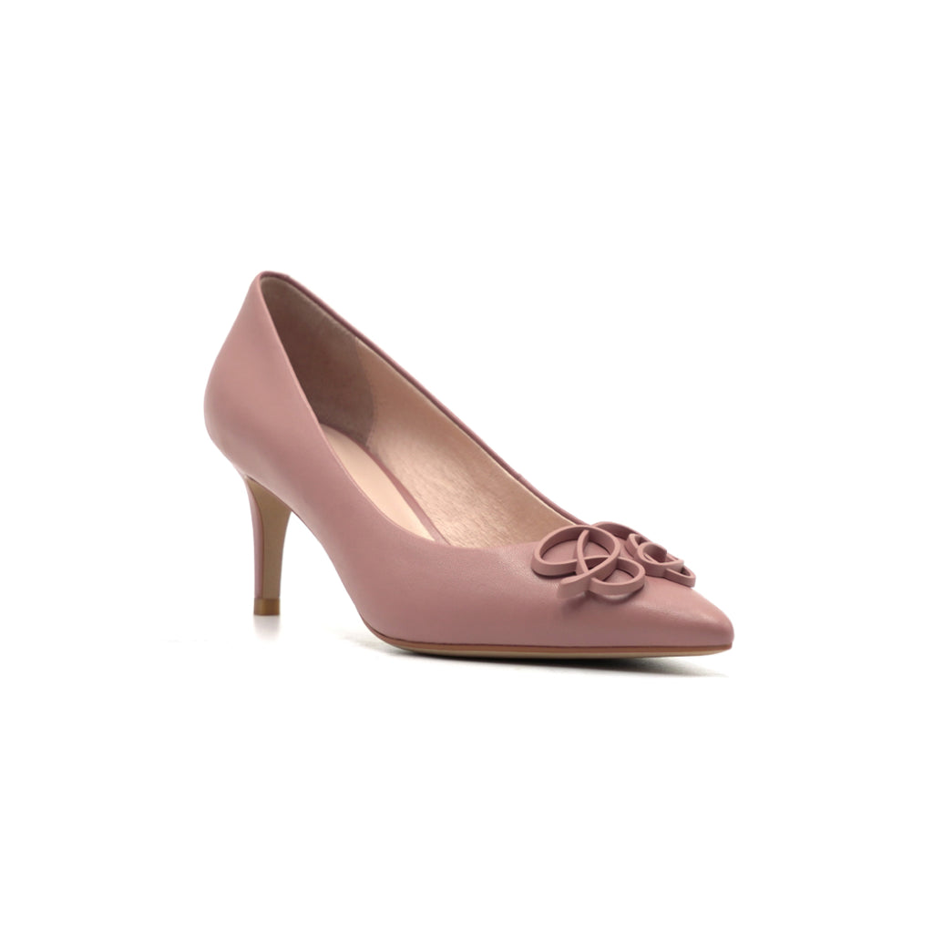Leather Buckle Pumps - Dark Pink 1T69110DNK