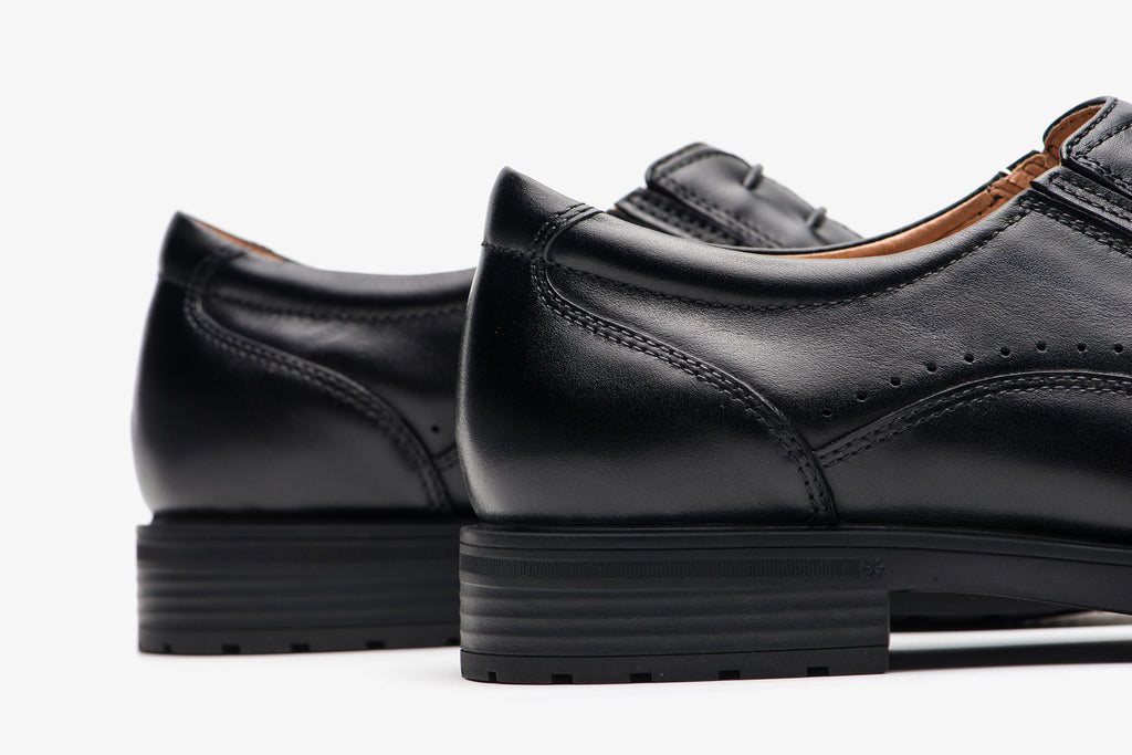 Men's Lace-up Shoes in Leather - Black