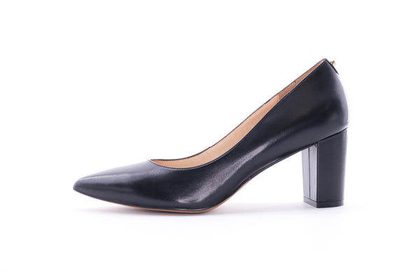 High Block Heel Pumps - Black 9M70101 - BKK