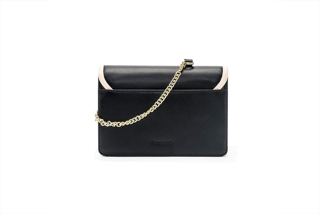 Leather Crossbody Bag - Black