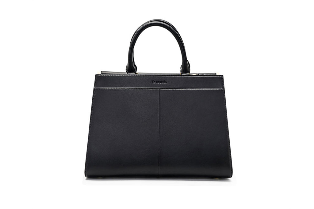 Leather City Bag - Black
