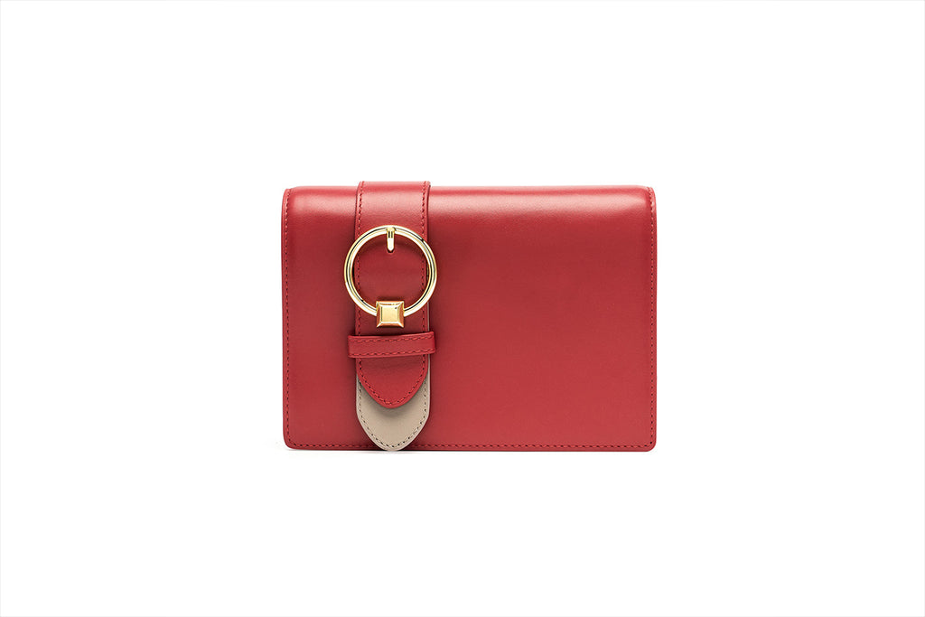 Mini Crossbody Bag with Metal Detail - Red