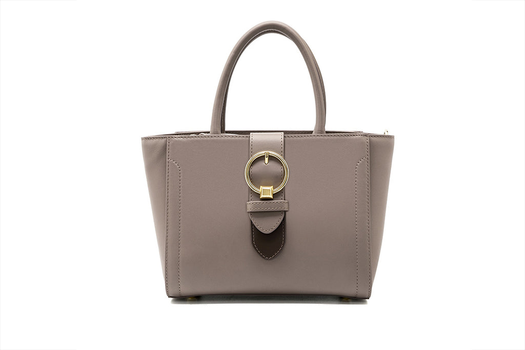 Mini Tote Bag with Metal Detail - Tapue