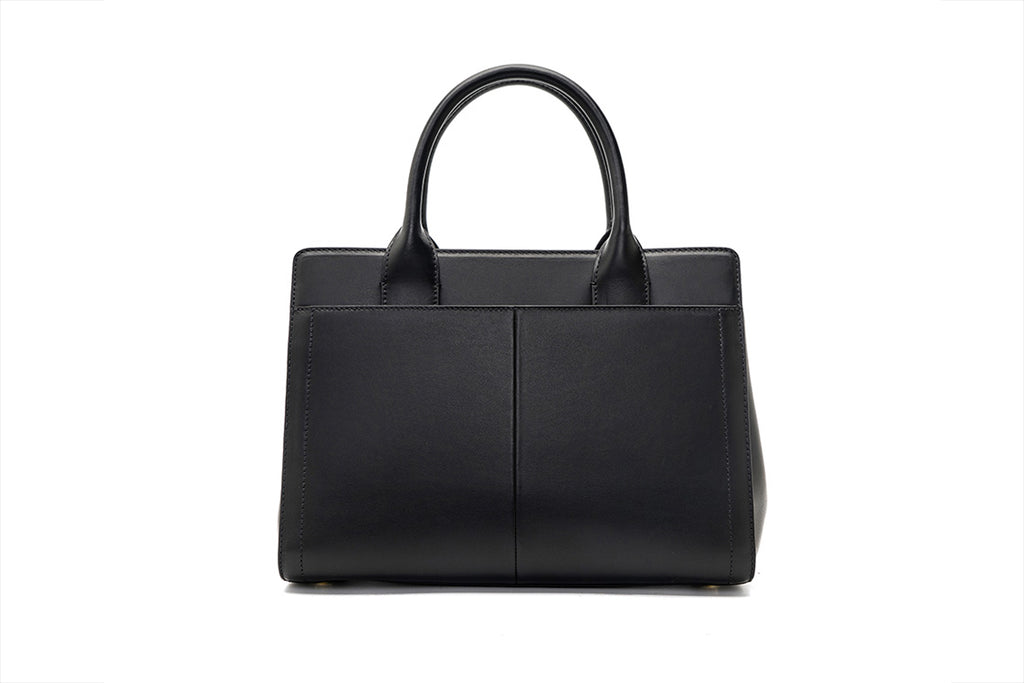 City Bag with Metal Detail - Black