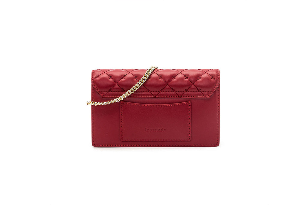 Mini Leather Crossbody Bag - Red