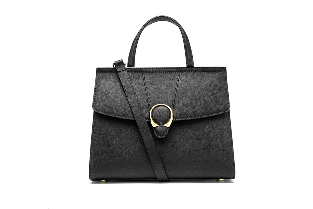 City Bag with Strap - Black