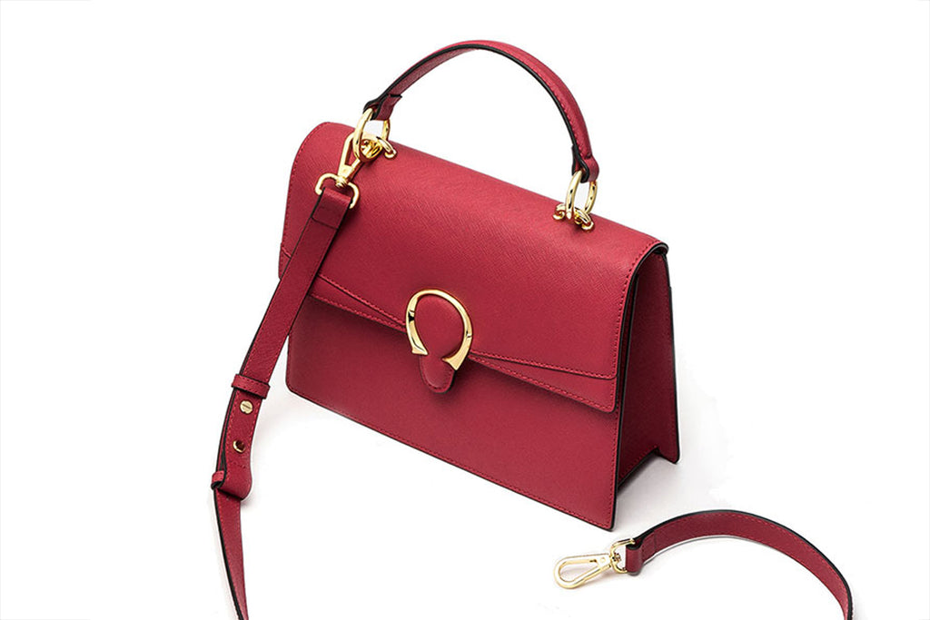 Mini City Bag with Strap - Red