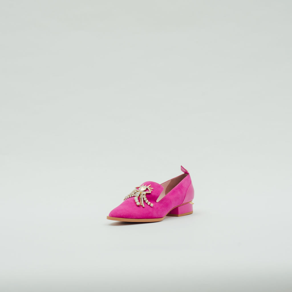 LR Loafers with Crystal Detail - Pink 9T30413 PNS