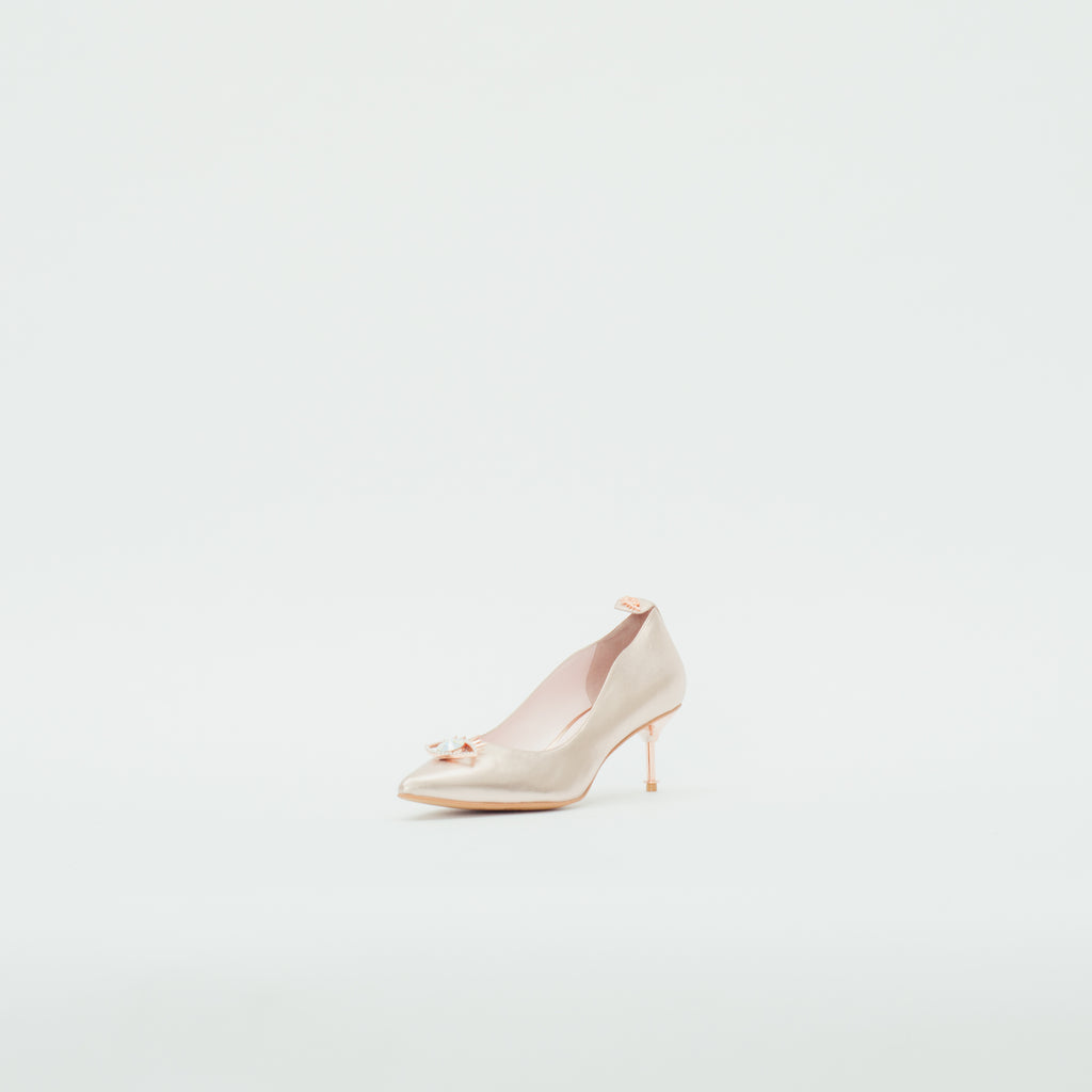 LR Classic Pumps with Crystal Detail - Rose Gold 9T61014RGK
