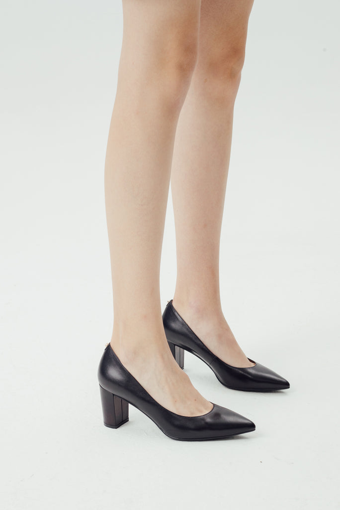 Block Heel Pumps - Black 9T70101 - BKK