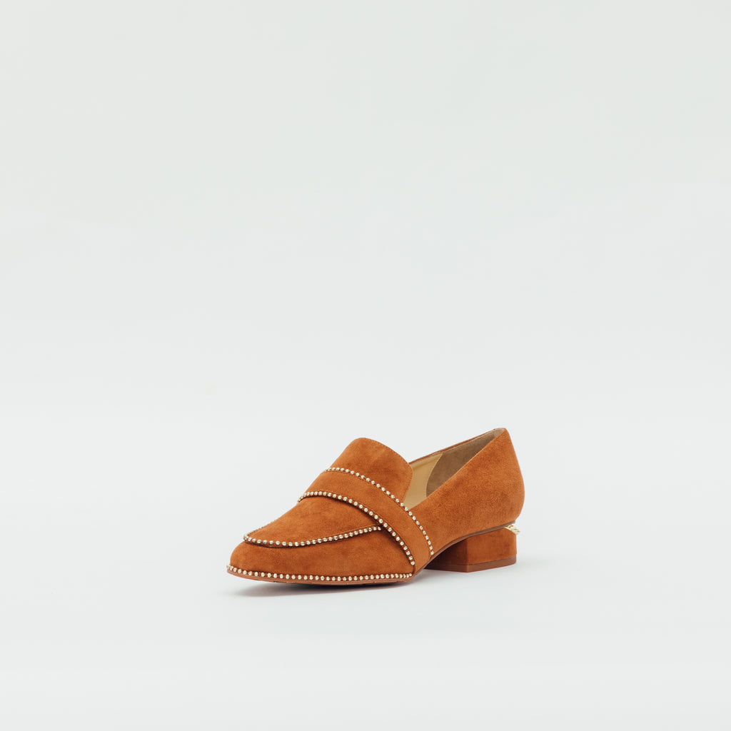 LR Loafers with Rivets Detail - Camel 9T30410 CMS