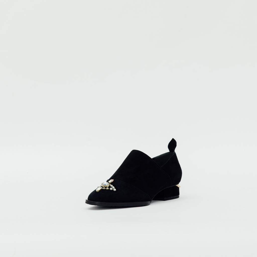 LR Loafers with Crystal Detail - Black 9T30414 BKS