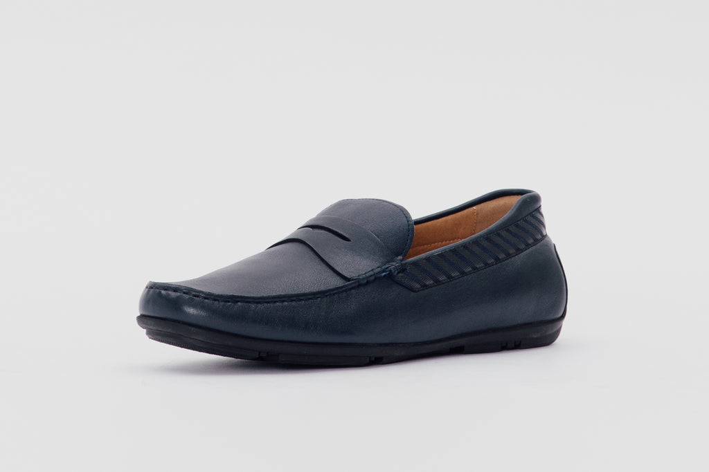 Leather Loafers (Men) - Navy