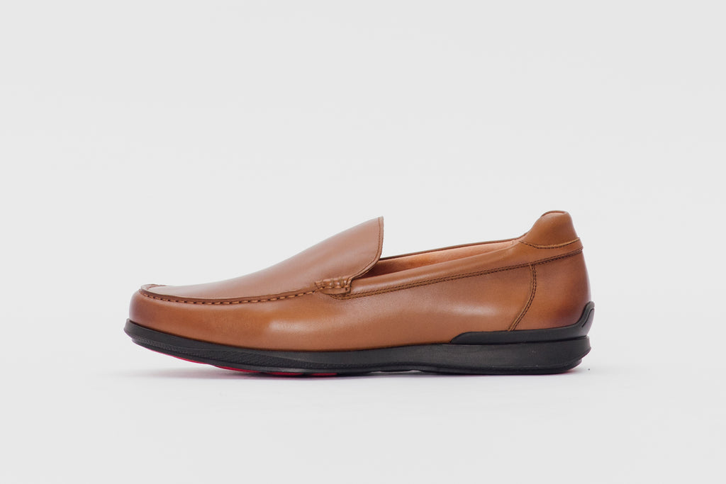 Men's Leather Loafers - Brown