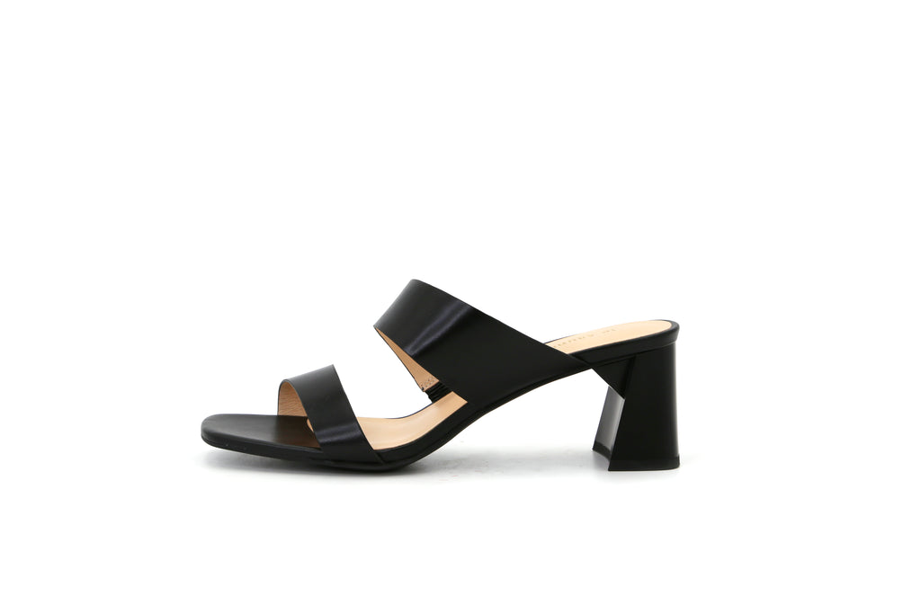 Heeled Slip-on Sandals - Black 1M54604 BKL