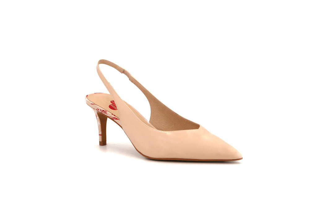 Pretty Pumps Slingback Leather Pumps - Beige 1M69106 BEP