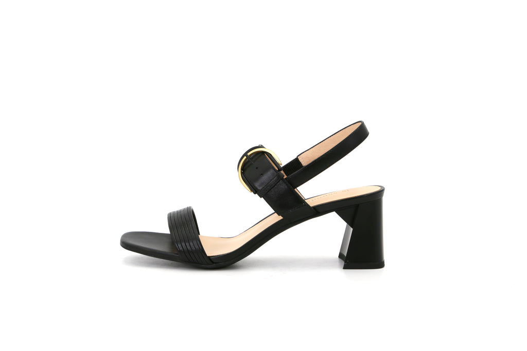 Heeled Sandals With Buckle - Black 1M54603 BKK