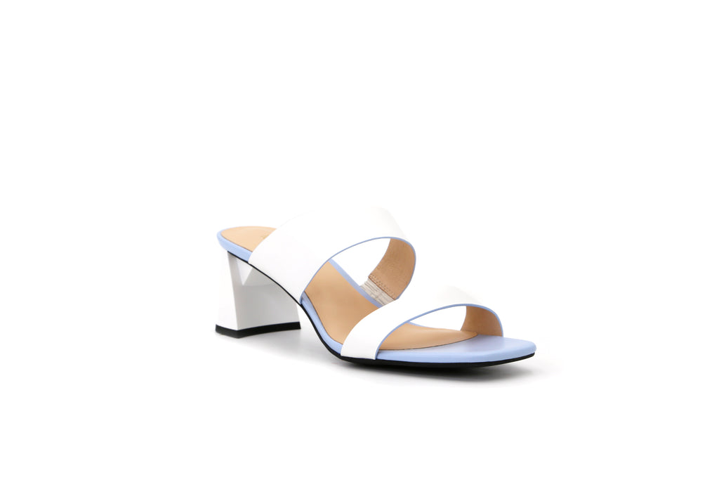 Heeled Slip-on Sandals - White 1M54604 WTK