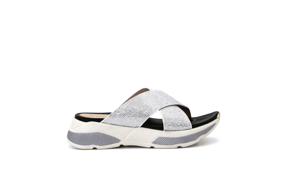 Leather Sport Mules - White 1M48503 WTS
