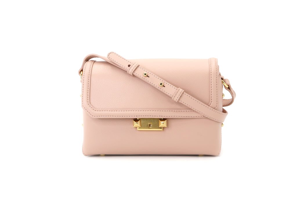Leather Crossbody Bag - Pink 1MH7640 PNR