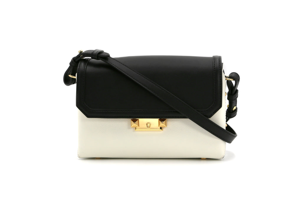 Leather Crossbody Bag - White 1MH7640 WTR