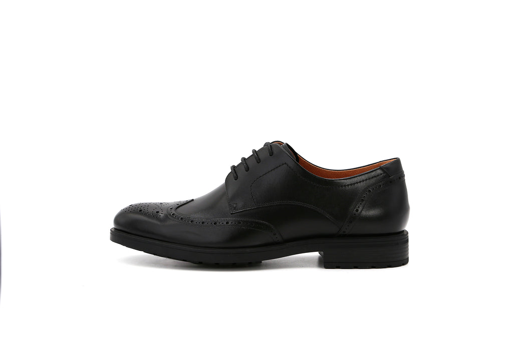 Men's Lace-up Leather Shoes - Black 1MM44408 BKL