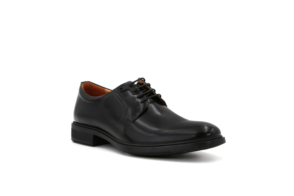 Men's Leather Shoes - Black 1MM51403 BKB