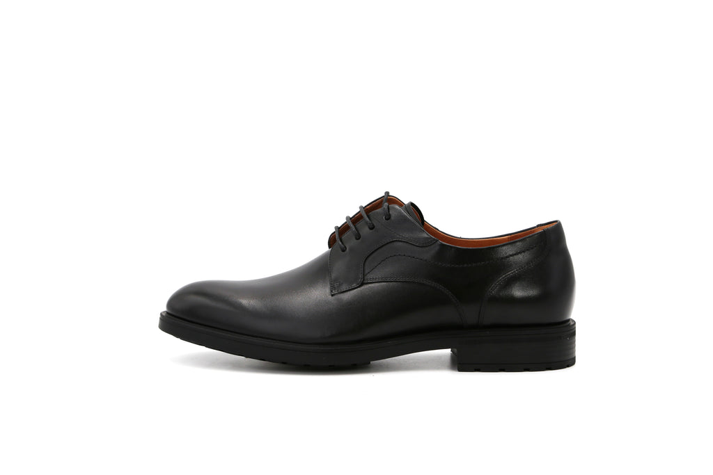 Men's Lace-up Leather Shoes - Black 1MM44409 BKL