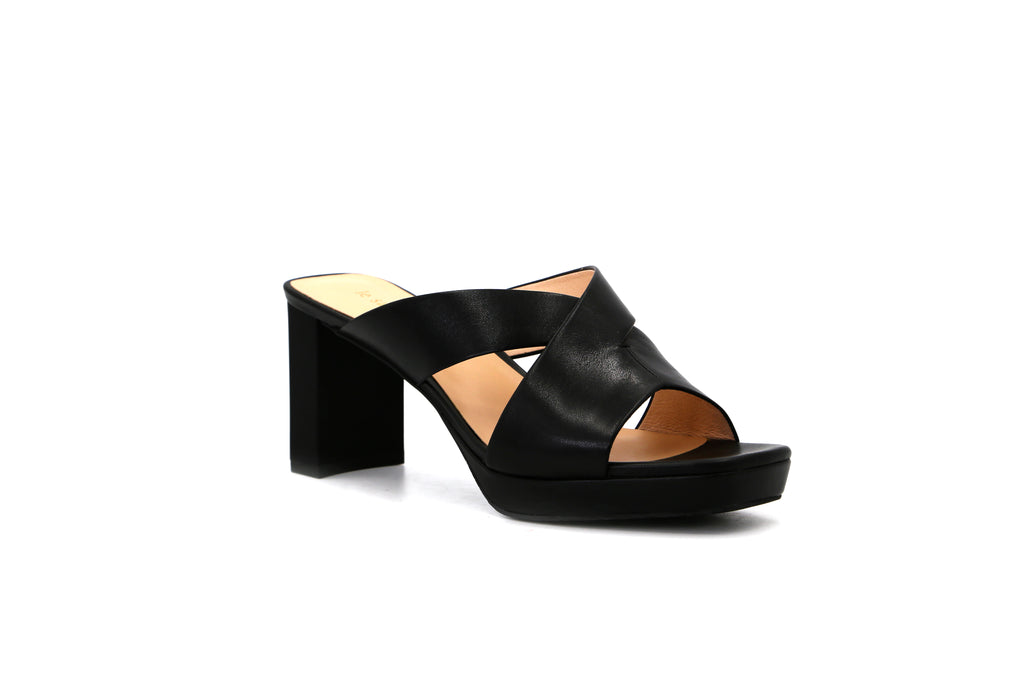 Classic Heeled Slip on Sandals - Black 1M59607 BKK