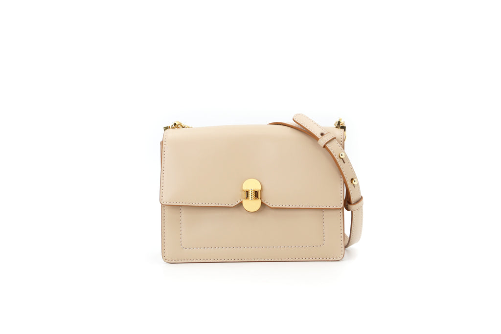 Leather Crossbody Bag - Beige 1MH7643 BER