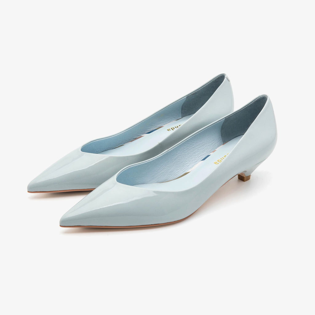 Point-toe Kitten Heels - Light Blue 1M32101-BLP