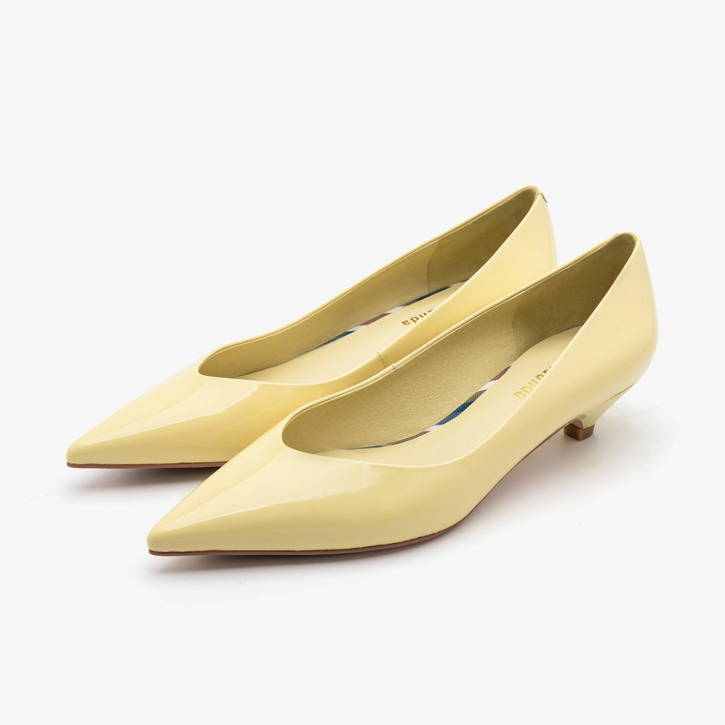 Point-toe Kitten Heels - Light Yellow 1M32101-LYP