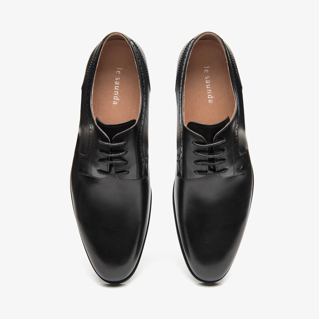 Men's Leather Shoes - Black 1MM31979 BKL