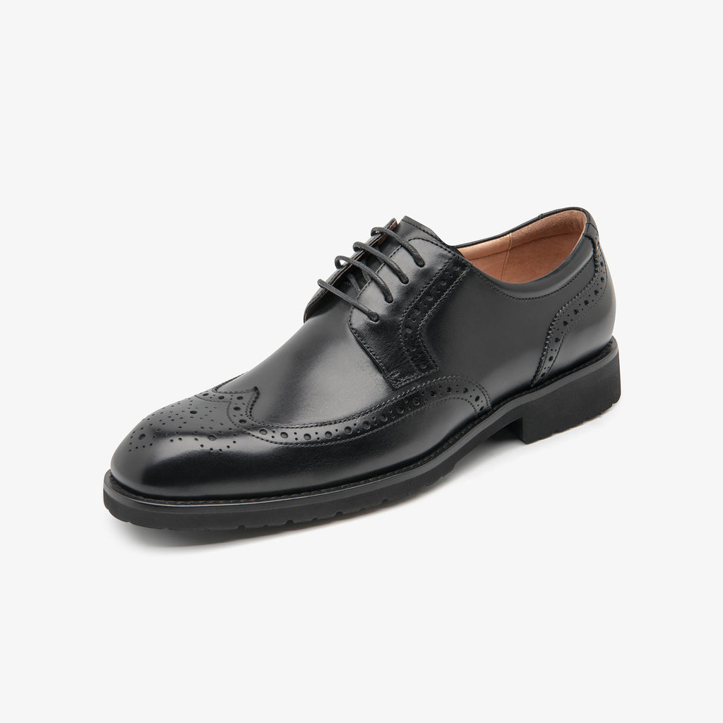 Men's Leather Shoes - Black 1MM38406 BKL