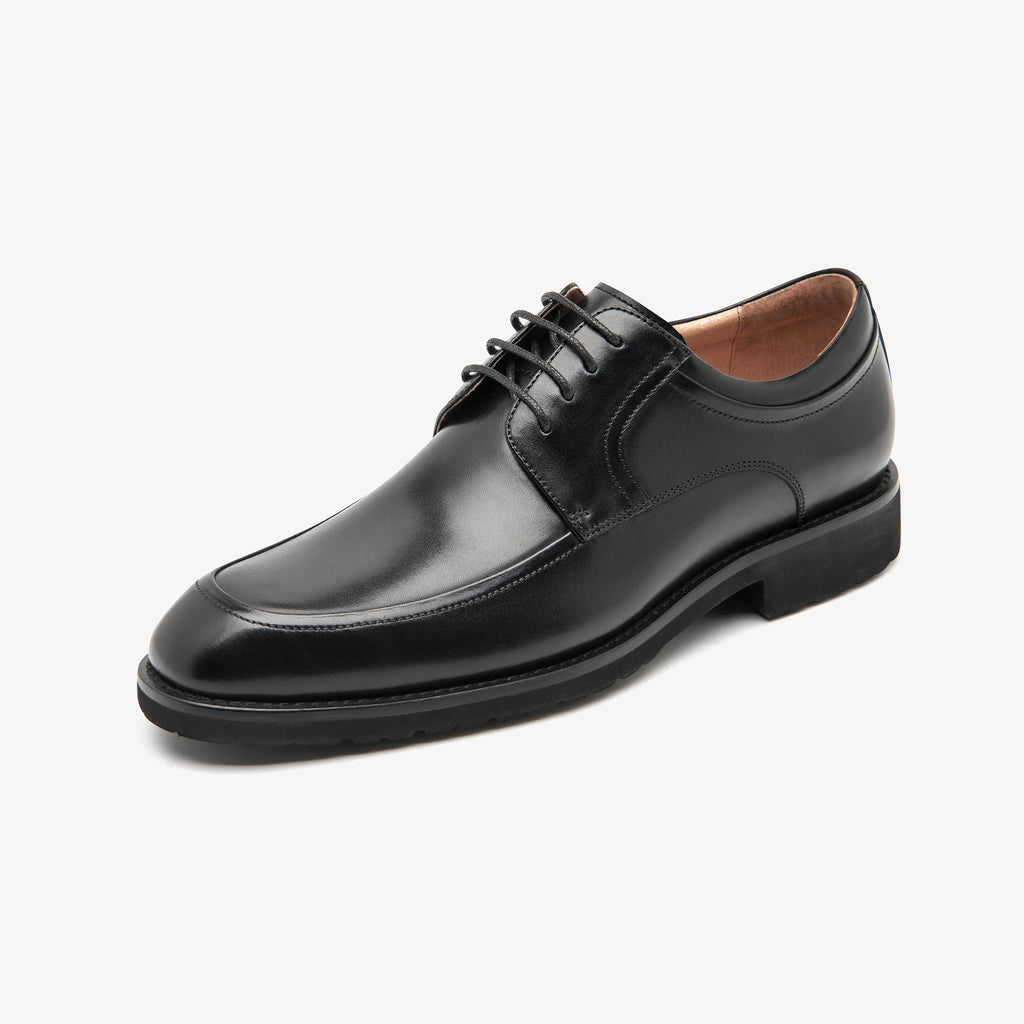 Men's Leather Shoes - Black 1MM38407 BKL