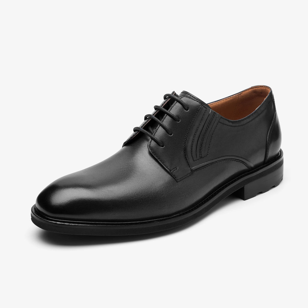 Men's Leather Shoes - Black 1MM48209 BKL