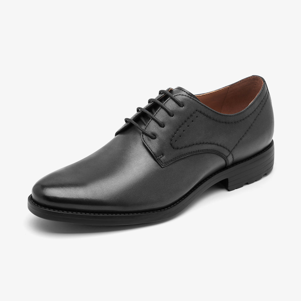 Men's Leather Shoes - Black 1MM65808 BKL