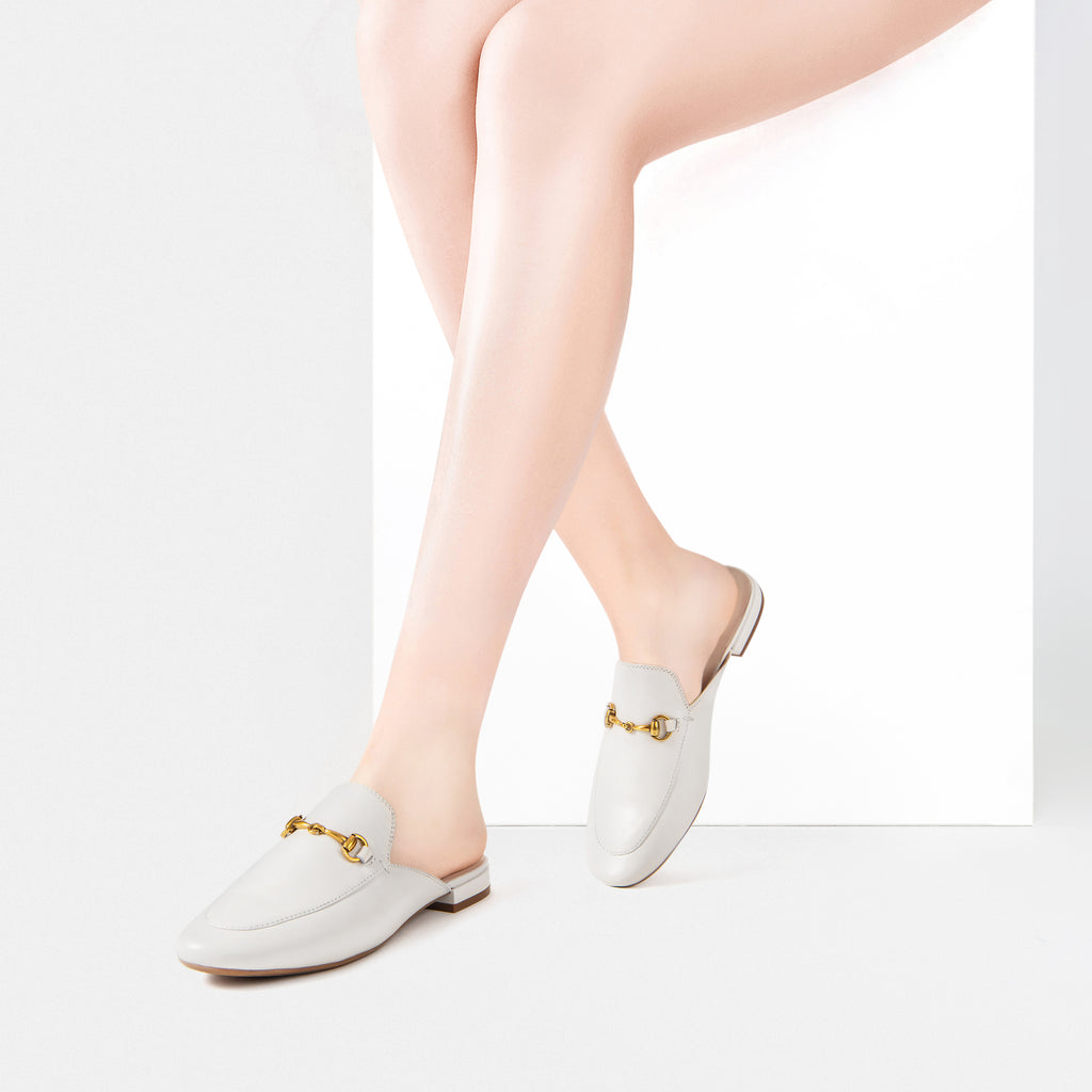 Mules with buckle detail - Beige 2M09601OWK