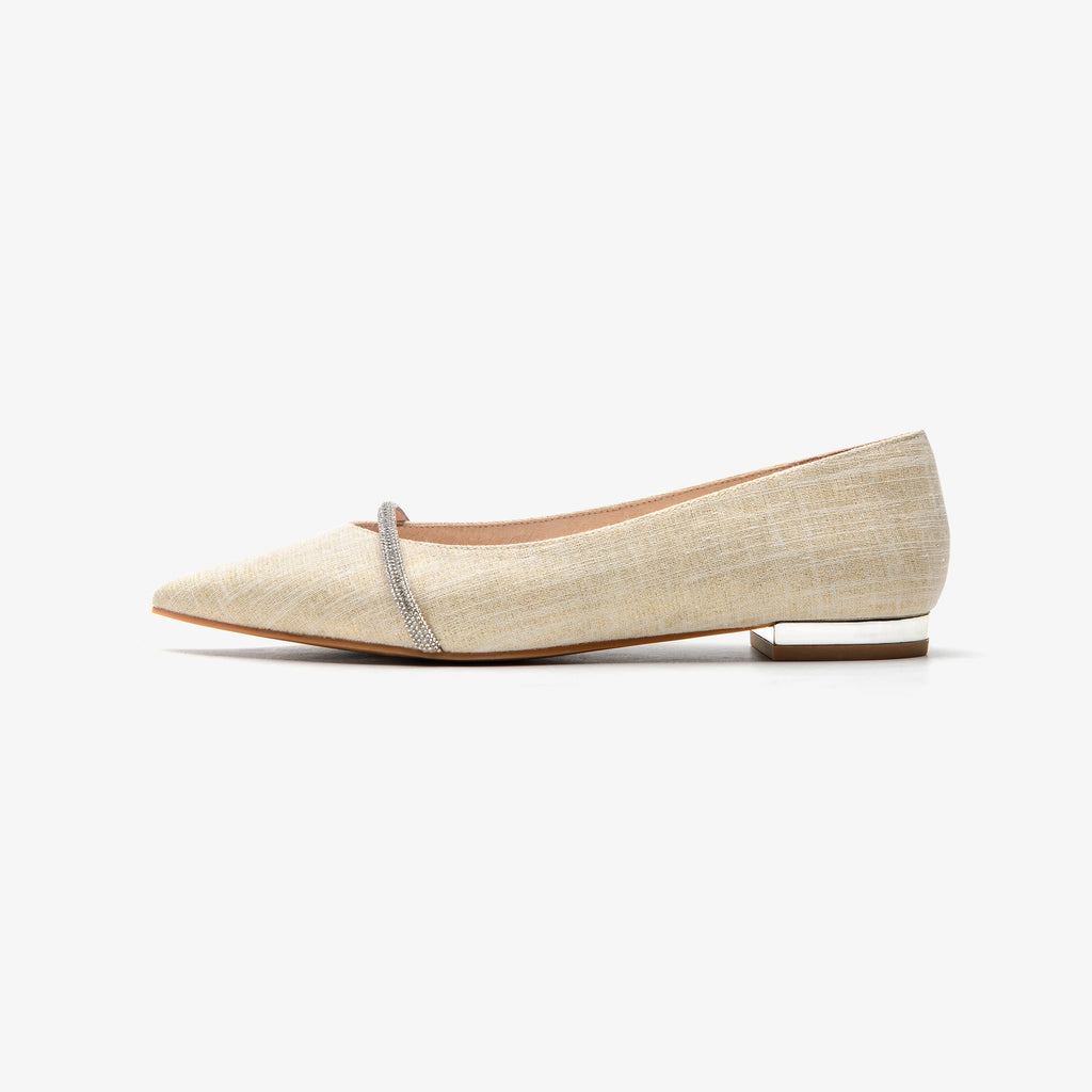 Pinted-toe flat shoes - Beige 2M17001BEF