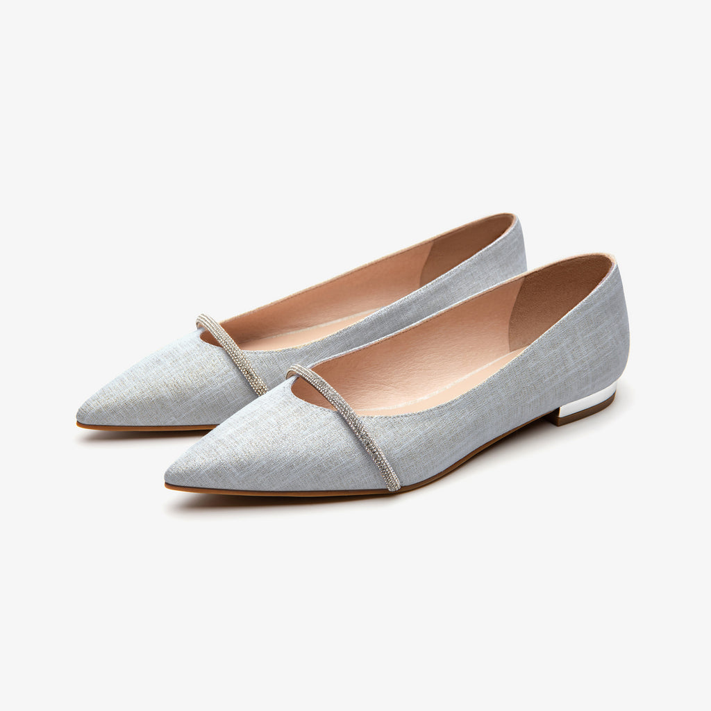 Pinted-toe flat shoes - Light blue 2M17001BLF