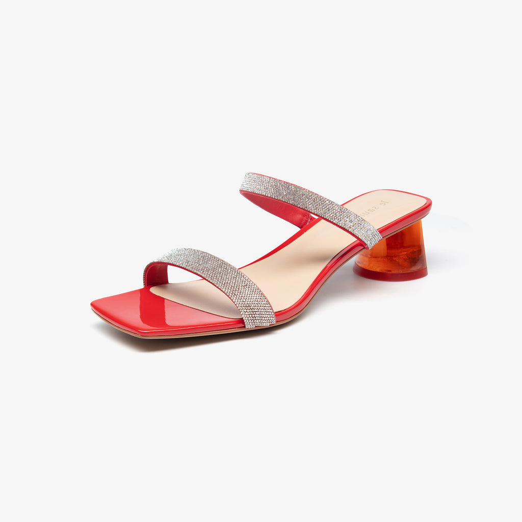 Crystal-embellished Sandals - Red 2M45901RDF