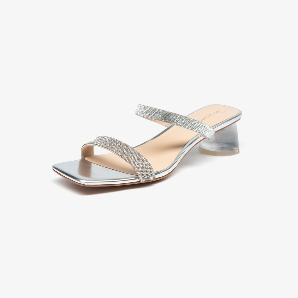 Crystal-embellished Sandals - Silver 2M45901SVK