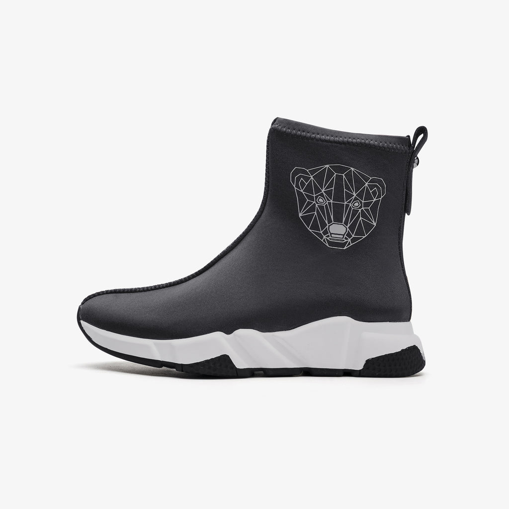 Sporty Fabric Ankle Boots - Grey 9T40602GYF