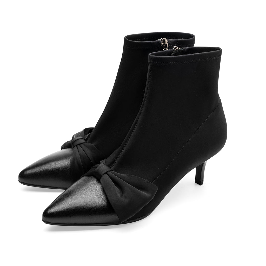Ankle Boots with Bow Detail - Black 9T60502BKK