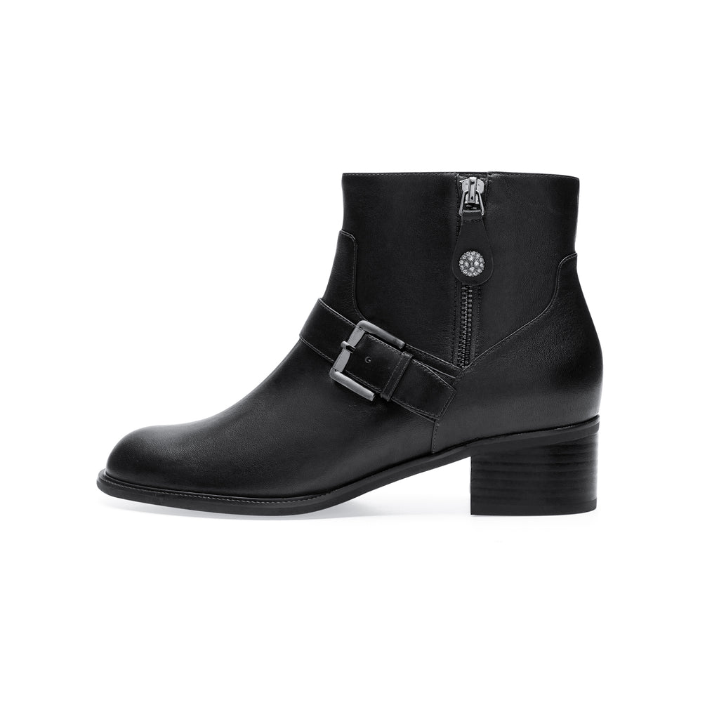 Leather Chelsea Boots with buckle detail - Black 9T61253 BKL